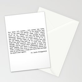 For what it's worth... F. Scott Fitzgerald Stationery Cards