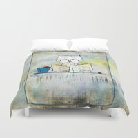 westie Duvet Covers featuring West Highland White Terrier ~ Westie ~ Sophisticated Wally ~ Ginkelmier by Ginkelmier