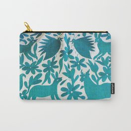 Otomi Cyan Carry-All Pouch