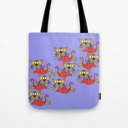 Cats in pink Tote Bag