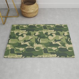 Camouflage Cats Rug