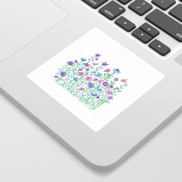 Cheerful spring flowers watercolor Sticker