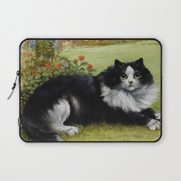 Black & White Kitty - Louis Wain Cats Laptop Sleeve