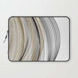 Gold & Black Swirls Laptop Sleeve
