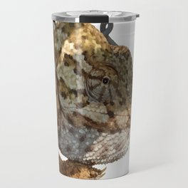 Chameleon Hanging On A Wire Fence Vector Travel Mug