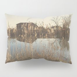 A cottage along a river Pillow Sham