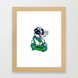 Skater panda Framed Art Print