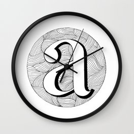 Swirly A Wall Clock