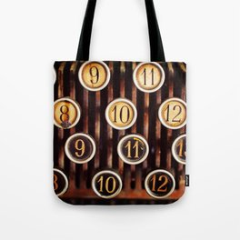 Vintage Numbers Tote Bag