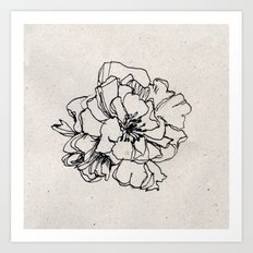 Flower Hairpin Art Print