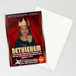 Faith Knucklez appearance card - King of Arcades World Premiere, Bethlehem PA Stationery Cards