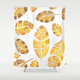 Brown Leaf Shower Curtain