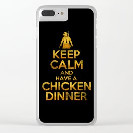 Keep calm and have a chicken dinner Clear iPhone Case