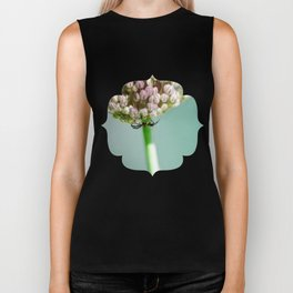 Spider in a Garlic Flower Biker Tank
