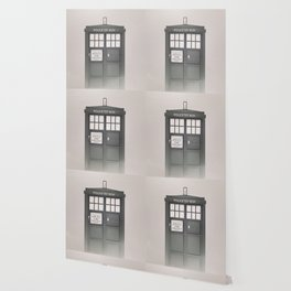 Vintage Police Box Wallpaper