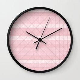 Geometric pattern antique pink Wall Clock