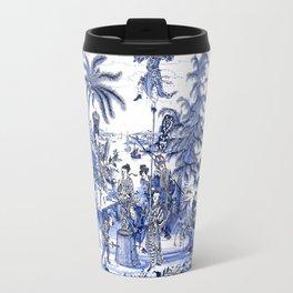 Chinoiserie Blue Landscape Travel Mug