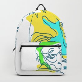 Woody Allen Line Art | Poster | Print | Painting Backpack