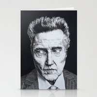 christopher walken Stationery Cards featuring Portrait of Christopher Walken by NAB Artwork