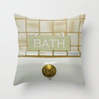 bath Throw Pillows featuring Bath by Misspeden