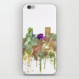 Anchorage, Alaska Skyline - Faded Glory iPhone Skin