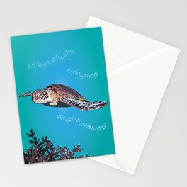 Green Sea Turtle Stationery Cards