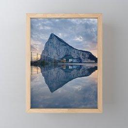 The rock of Gibraltar Framed Mini Art Print