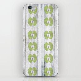 White Wood Apples iPhone Skin