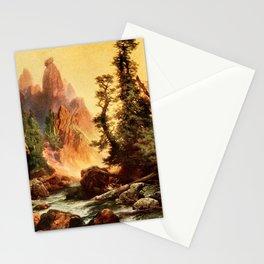 Moran, Thomas (1837-1926)  - Three wonderlands of the American West 1912 - Tower Creek, Yosemit Stationery Cards