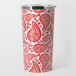 Paisley (Red & White Pattern) Travel Mug