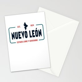 Nuevo León Mexico State License Plate Design Stationery Cards