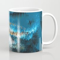 chihiro Mugs featuring Blue Forest Shades by Alix Rumble