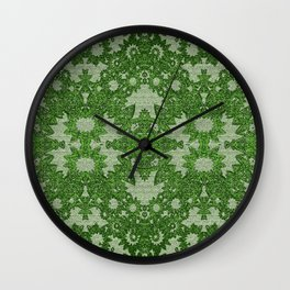 Victorian Vintage Boho Mossy Green Lace Wall Clock