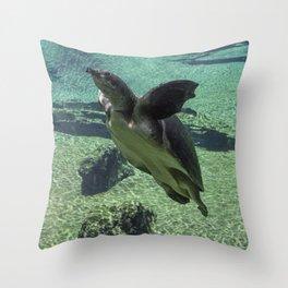 Snorkling Throw Pillow