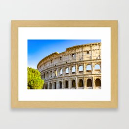 Vita Bellissima (Beautiful Life): Colosseum in Rome, Italy Framed Art Print