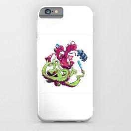 Gorilla vs. Octopus iPhone Case