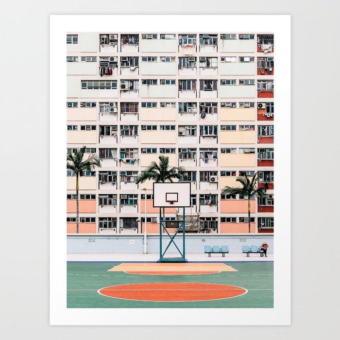 Hong Kong Rainbow Estate Art Print
