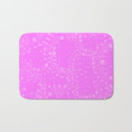 Spring pastels gently pearl and pink circles and ellipses with the image of abstract flowers on a cr Bath Mat