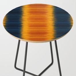N249 - Orange Blue Oriental Vintage Boho Moroccan Style Side Table