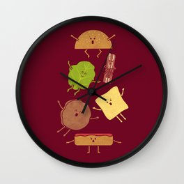 Pile On Wall Clock