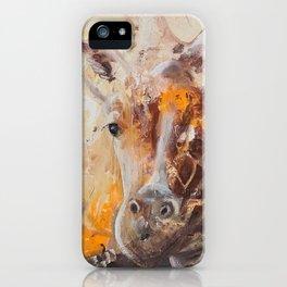 "Giraffe - Animal - ""Presence"" by LiliFlore iPhone Case"