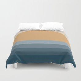 Minimal Retro Sunset / Sunrise - Ocean Blue Duvet Cover