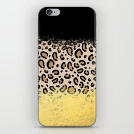 Wilder - black gold foil cheetah print animal pattern spots dots bold modern design sparkle glitter iPhone Skin