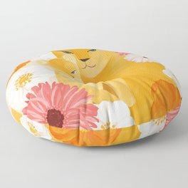 Mother Lion and cub II Floor Pillow