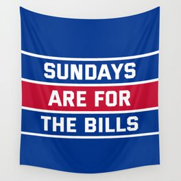 Sundays Are for the bills Wall Tapestry