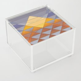 Pyramid Sun Mauve Purple Acrylic Box