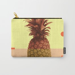 Pineapple Print - Tropical Decor - Botanical Print - Pineapple Wall Art - Beige, Peach - Minimal Carry-All Pouch
