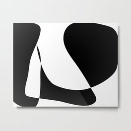 Minimalist Black and White 82 Metal Print
