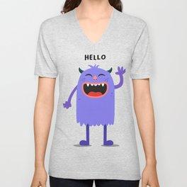 Hello Monster Unisex V-Neck