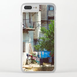 Hang-Drying Laundry Clear iPhone Case